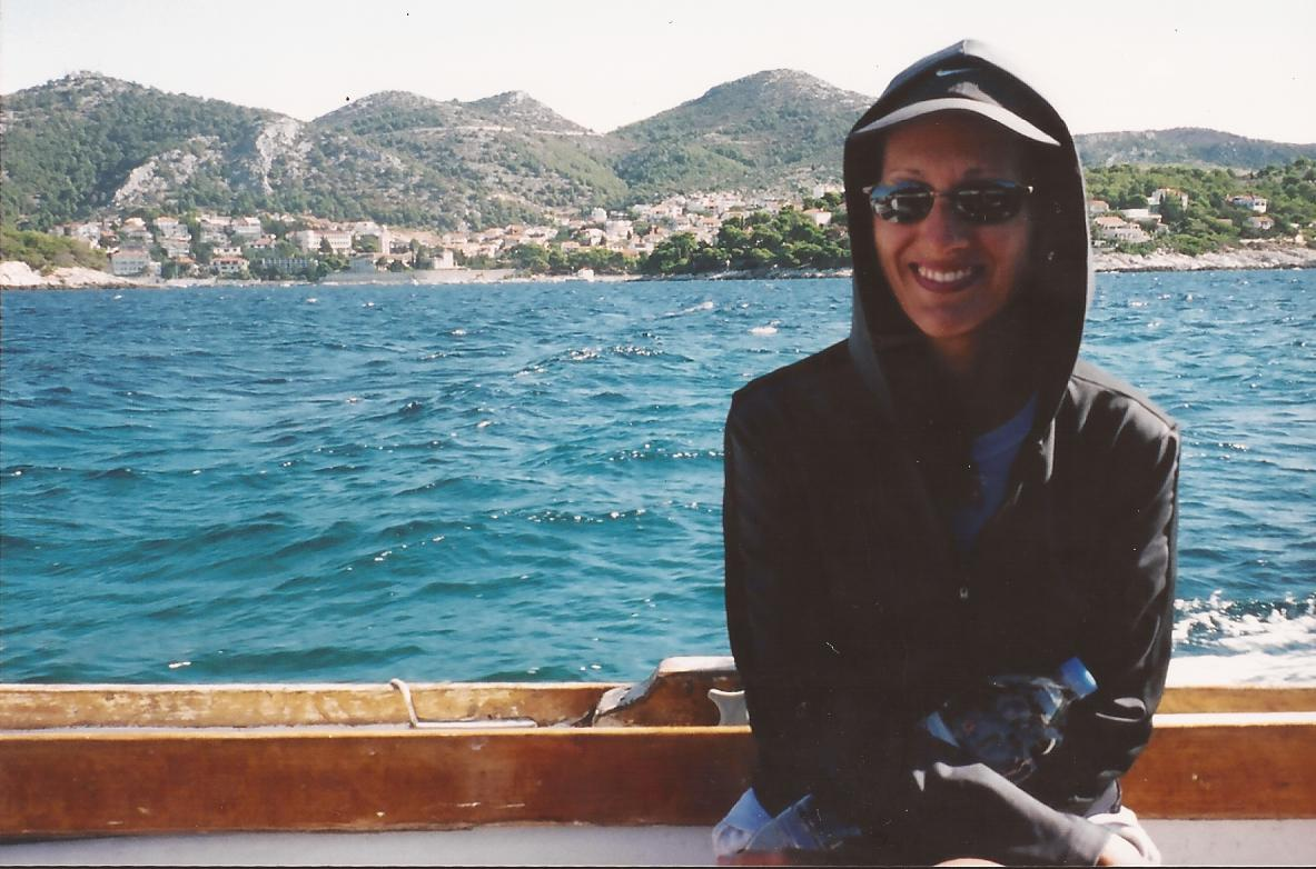 Maura on boat in Adriatic.jpg